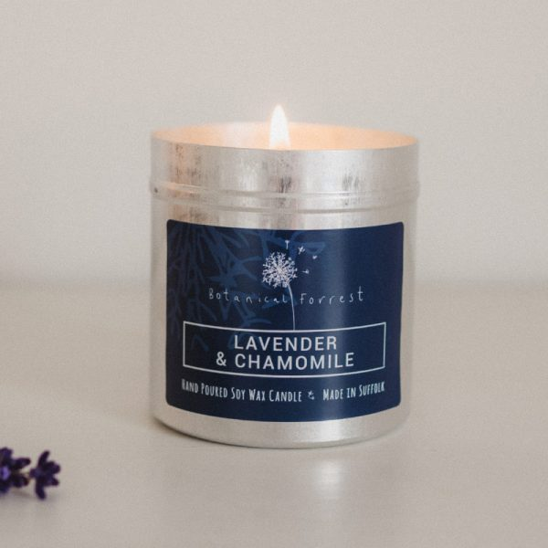 Lavender and Chamomile Soy Candles in Tins